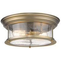 Z-Lite 727F13-HBR Sonna 2 Light 14 inch Heritage Brass Flush Mount Ceiling Light