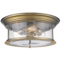 Z-Lite 727F16-HBR Sonna 3 Light 16 inch Heritage Brass Flush Mount Ceiling Light