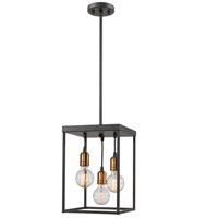 Troubadour 3 Light 10 inch Bronze Pendant Ceiling Light