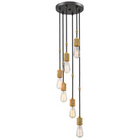 Z-Lite 8001-6P-BRZ Troubadour 6 Light 10 inch Bronze Pendant Ceiling Light