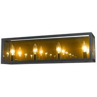 Z-Lite 802-4V-MC Infinity 4 Light 24 inch Misty Charcoal Vanity Wall Light