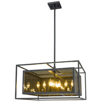 Z-Lite 802P24-MC Infinity 12 Light 24 inch Misty Charcoal Pendant Ceiling Light