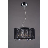 Z-Lite Parisian Crystal 6 Light Crystal Chandelier in Chrome and Black 821CH