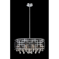 Z-Lite Mirach 6 Light Crystal Chandelier in Chrome 840CH