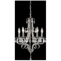 Z-Lite 849BN Pearl 5 Light 15 inch Brushed Nickel Mini Chandelier Ceiling Light