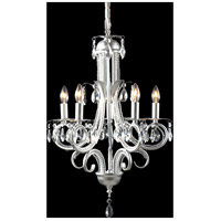 Pearl 5 Light 15 inch Silver Mini Chandelier Ceiling Light