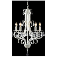Parisian 5 Light 15 inch White Crystal Chandelier Ceiling Light