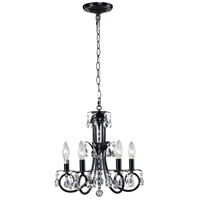 Pearl 5 Light 15 inch Black Mini Chandelier Ceiling Light