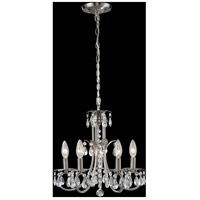 Z-Lite 852BN Pearl 5 Light 15 inch Brushed Nickel Mini Chandelier Ceiling Light