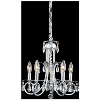 Z-Lite Pearl 5 Light Crystal Chandelier in Silver 852S