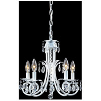 Z-Lite Pearl 5 Light Crystal Chandelier in White 853W