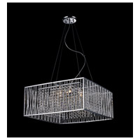Zenith 6 Light 20 inch Chrome Crystal Chandelier Ceiling Light