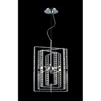 Z-Lite Aurora 6 Light Crystal Chandelier in Chrome 856CH photo thumbnail