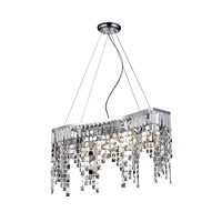 Nyssa 6 Light 21 inch Chrome Island/Billiard Ceiling Light