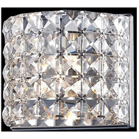Z-Lite Panache 1 Light Wall Sconce in Chrome with Crystal Glass 867-1S