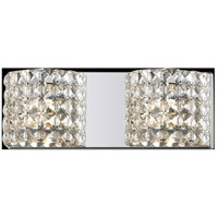 Z-Lite Panache 2 Light Vanity in Chrome with Crystal Glass 867-2V