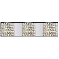 Z-Lite Panache 3 Light Vanity in Chrome with Crystal Glass 867-3V photo thumbnail
