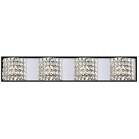 Z-Lite Panache 4 Light Vanity in Chrome with Crystal Glass 867-4V