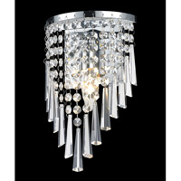 Z-Lite Tango 1 Light Wall Sconce in Crome with Crystal Glass 868CH-1S