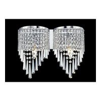 Z-Lite Tango 2 Light Vanity in Crome with Crystal Glass 868CH-2V