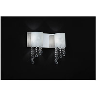 Z-Lite 871CH-2V Jewel 2 Light 15 inch Chrome Vanity Wall Light in G9