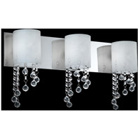 Jewel LED 22 inch Chrome Vanity Light Wall Light in 3