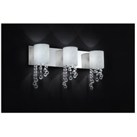 Z-Lite 871CH-3V Jewel 3 Light 22 inch Chrome Vanity Wall Light in G9