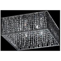 Z-Lite 872CH-F Terra 4 Light 16 inch Chrome Flush Mount Ceiling Light in Silver Aluminum