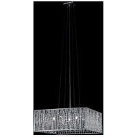 Terra 5 Light 20 inch Chrome Pendant Ceiling Light in Silver Aluminum