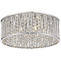 Z-Lite 872CH-RF16 Terra 6 Light 16 inch Chrome Flush Mount Ceiling Light