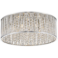 Terra 7 Light 19 inch Chrome Flush Mount Ceiling Light