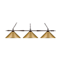 Z-Lite 88103BRZ-MSG Aztec 3 Light 51 inch Bronze Island Light Ceiling Light