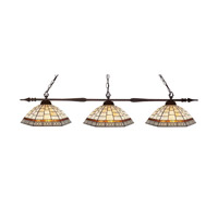 Aztec 3 Light 51 inch Bronze Billiard/Island Ceiling Light