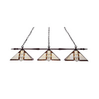Aztec 3 Light 51 inch Bronze Billiard Ceiling Light
