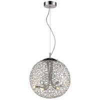 Z-Lite 889CH-14 Nabul 6 Light 14 inch Chrome Pendant Ceiling Light