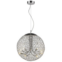 Nabul 8 Light 18 inch Chrome Pendant Ceiling Light