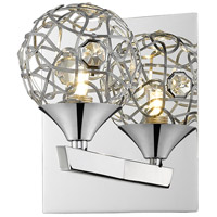 Z-Lite Nabul 1 Light Wall Sconce in Chrome 889CH-1S