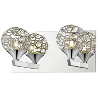 Nabul 2 Light 12 inch Chrome Vanity Wall Light