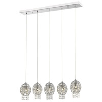 Z-Lite 889CH-5B Nabul 5 Light 32 inch Chrome Island/Billiard Ceiling Light