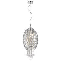 Nabul 5 Light 13 inch Chrome Pendant Ceiling Light