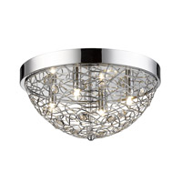 Nabul 4 Light 16 inch Chrome Flush Mount Ceiling Light