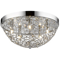 Z-Lite 889CHF18 Nabul 5 Light 18 inch Chrome Flush Mount Ceiling Light