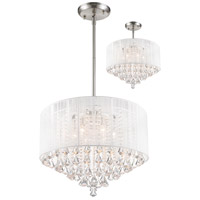 Z-Lite Aura 6 Light Convertible Pendant/Semi Flush Mount in Brushed Nickel 891-24W-C
