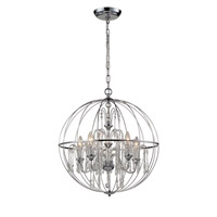 Z-Lite Laia 5 Light Pendant in Chrome  897CH