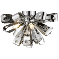 Z-Lite 9001F-CH Vex 5 Light 20 inch Chrome Flush Mount Ceiling Light