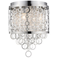 Z-Lite 9002F12-CH Bijou 4 Light 12 inch Chrome Flush Mount Ceiling Light