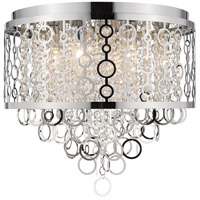 Z-Lite 9002F18-CH Bijou 6 Light 18 inch Chrome Flush Mount Ceiling Light