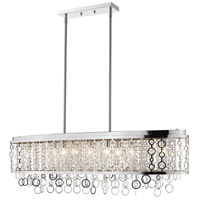 Z-Lite 9002L44-CH Bijou 9 Light 45 inch Chrome Island Light Ceiling Light