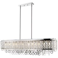 Bijou 12 Light 56 inch Chrome Island Light Ceiling Light