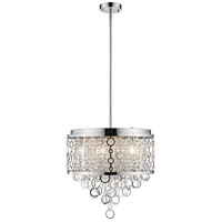 Z-Lite 9002P18-CH Bijou 6 Light 18 inch Chrome Pendant Ceiling Light
